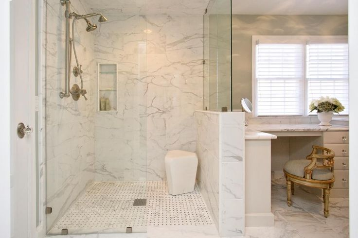 White Bathroom Remodeling