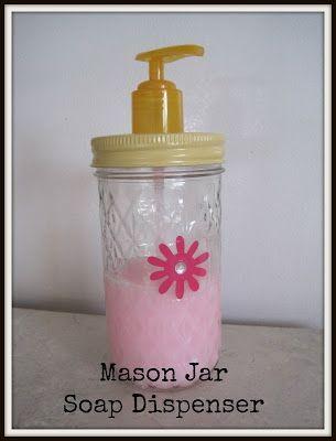 Mason Jar Soap Dispenser #mason jar #diy