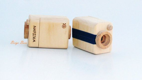 Personalized Wooden Video Camera Recorder  Handmade by beigebois