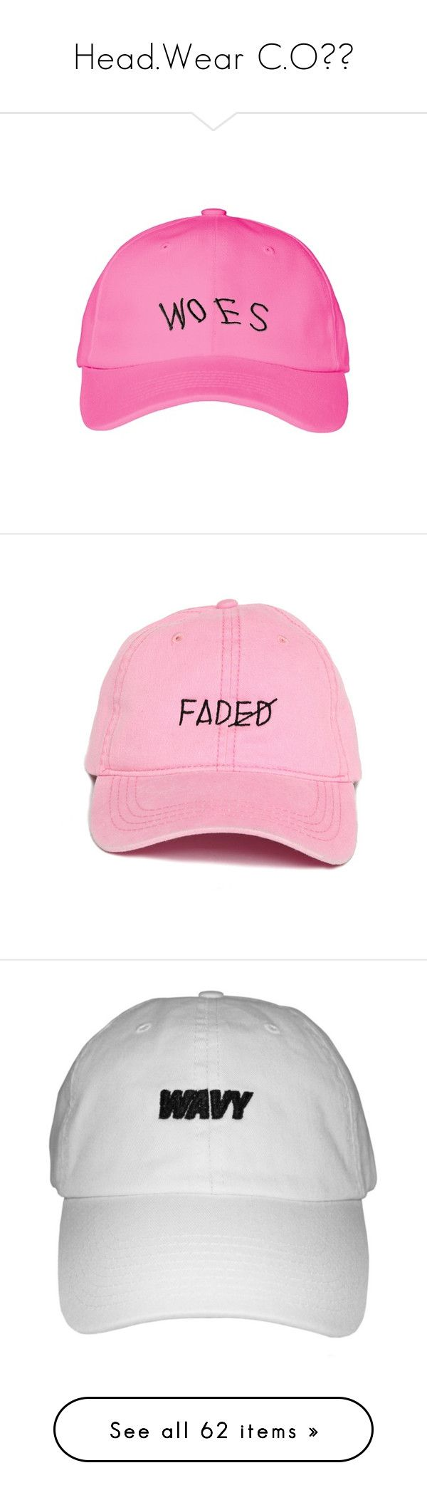 """""""Head.Wear C.O"""" by dashaye-2013 ❤ liked on Polyvore featuring accessories, hats, caps hats, cotton cap, visor hats, sun visor hat, summer cap, navy hat, logo hats and embroidered hats"""