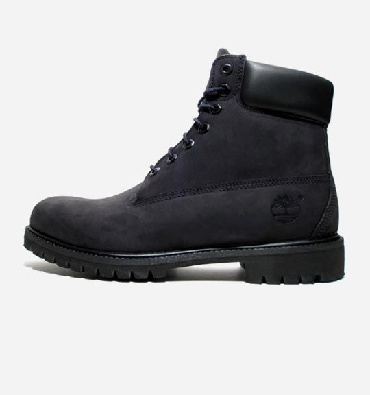 "Timberland 6"" Premium Boot: If you thought Timberland's signature boot style couldn't get any better, then think again. The style has been reinvented in all-black, including black eyelets, for an update on a classic. http://shop.kithnyc.com/products/6-heritage-boot-black"