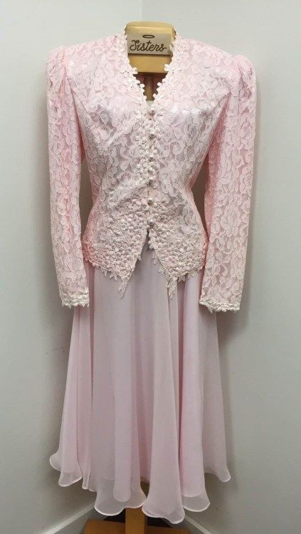 pink #vintage Les Robes Galleria  suit for the mother of the bride!