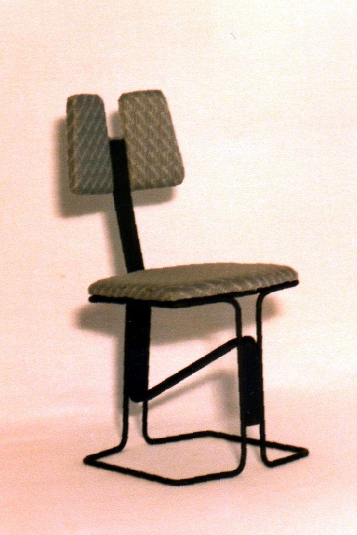 Dise o industrial silla mod pulm n tubo de hierro - Silla diseno industrial ...
