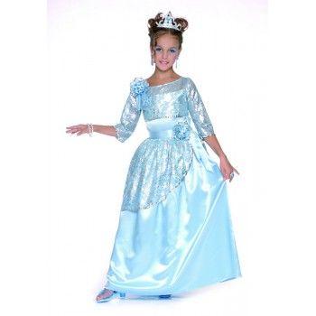 Déguisement Princesse Boléro bleu pour enfants de 3 à 10 ans  #princesse #fille #jeu #robe #robebleue #fillette #costume