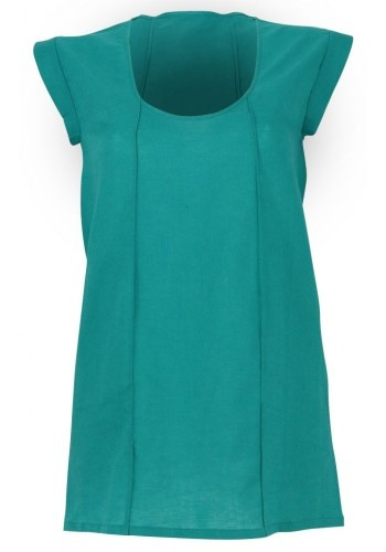 Anez's Parallel Boxy Top in Teal from LAAVAA.com