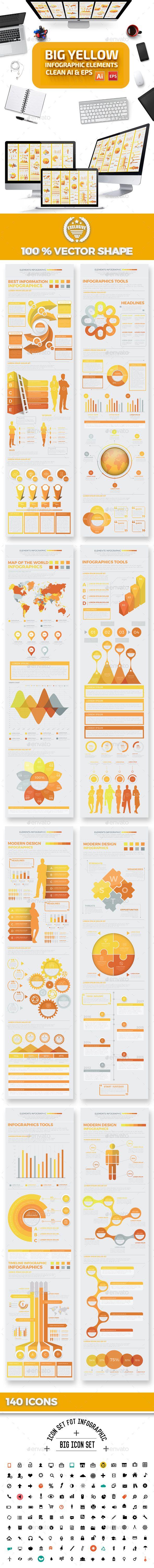 Big Yellow Infographics Design
