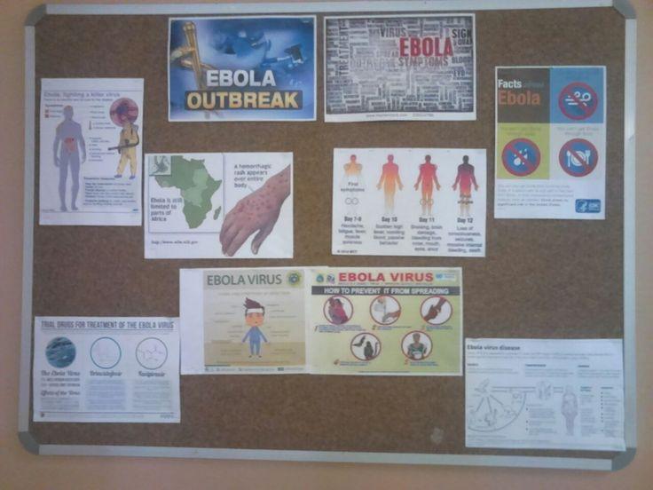Unisa Library Gauteng Branch - Ebola Display