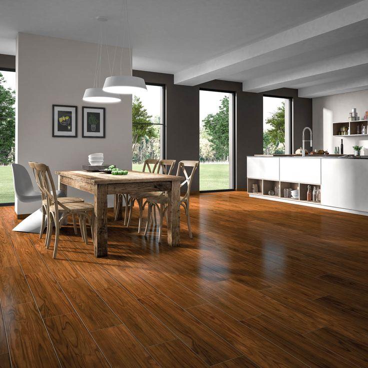 Wood Essence | Lamosa Piso y Muros - Cerámico / 20 x 90 cm. / Maple - Miel / Mate