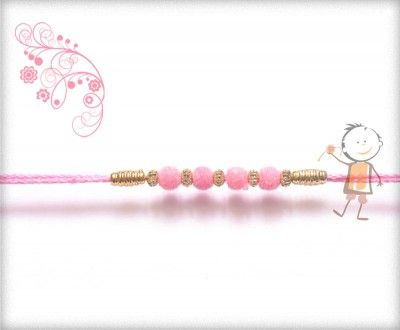 Online #Rakhi #Shopping 2015:- Buy Rakhi, #Velvet #Rakhi Delivery In #India #USA #UK #Australia #Canada #Dubai #Singapore #NZ Delicate Pink Velvet Rakhi, surprise your loved ones with roli chawal, chocolates and a greeting card as it is also a part of our package and that too without any extra charges.  http://www.bablarakhi.com/send-designer-rakhi-online/1117-send-delicate-pink-velvet-rakhi-online.html