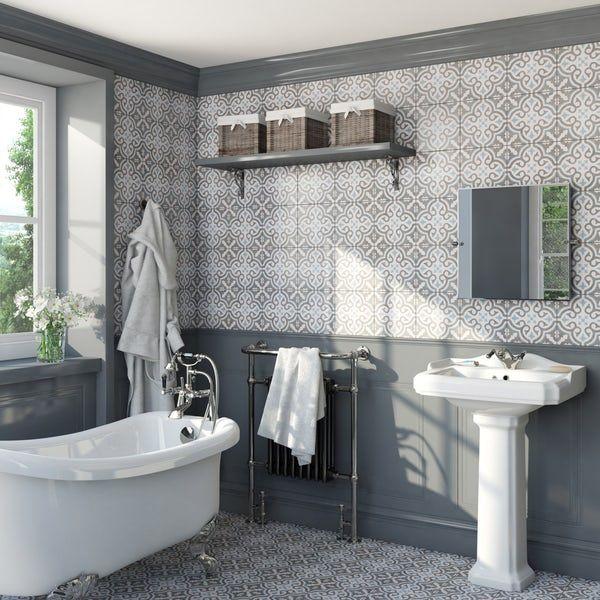 Lucena Leya Traditional Matt Wall And Floor Tile 450mm X 450mm Tile Floor Wall Floor Tiles Flooring
