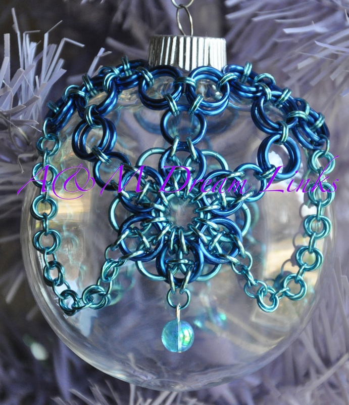 chain maille Christmas Ornaments - A & M Dream Links