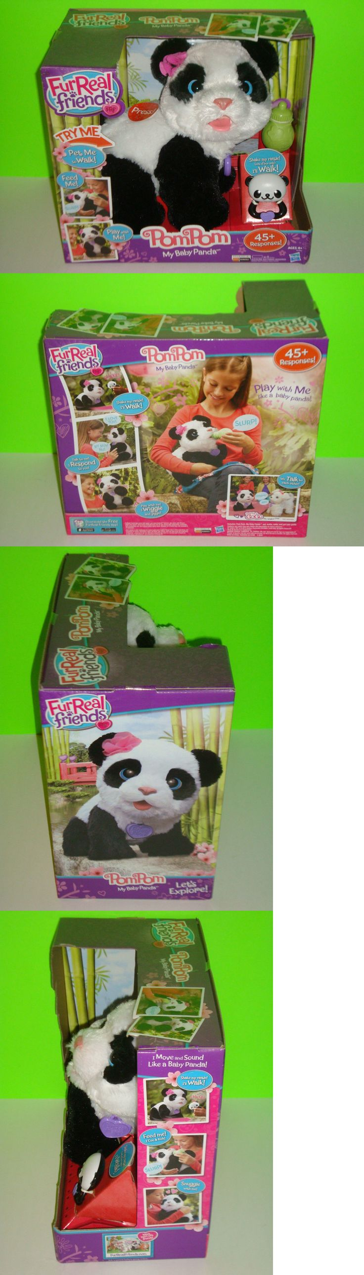 FurReal Friends 38288: Furreal Friends Pompom My Baby Panda Bear Pet Interactive Toy Fur Real Pompom -> BUY IT NOW ONLY: $74.99 on eBay!