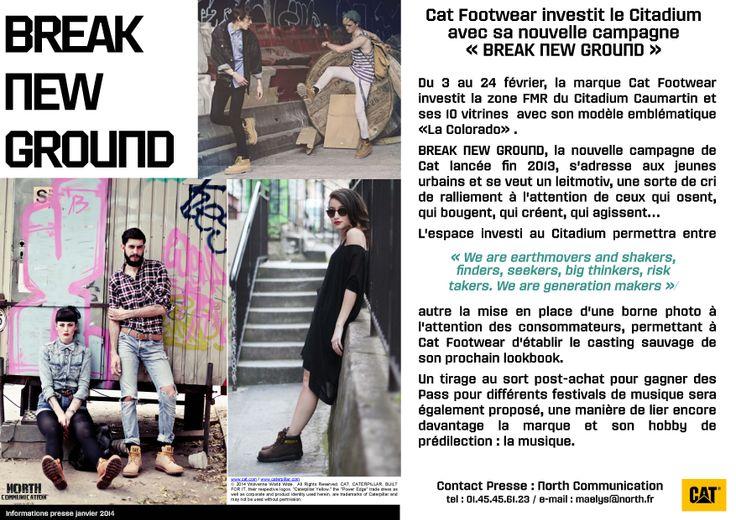 #CAT #CATFOOTWEAR #BREAKNEWGROUND #FEVRIER2014 #CITADIUM #PARIS #BLOGGER #SHOES #TEAMCAT