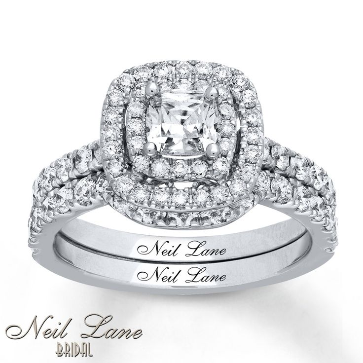 Neil Lane Bridal Set 1 5/8 ct tw Diamonds 14K White Gold
