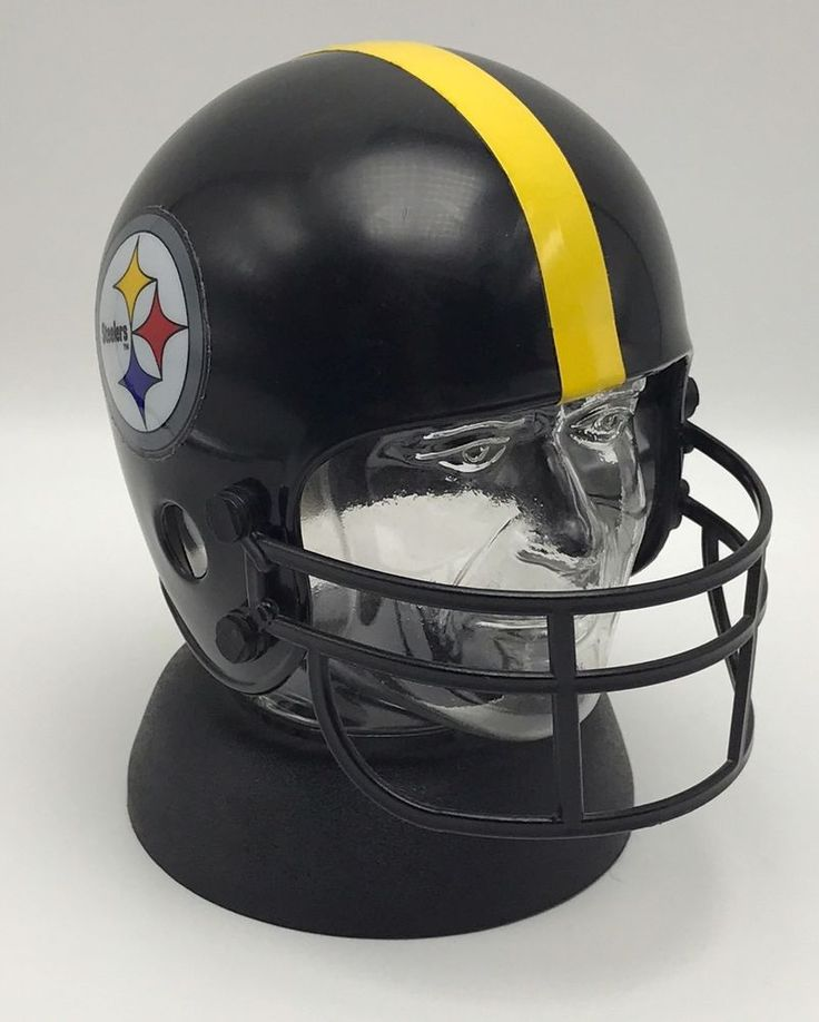 Vintage Pittsburgh Steelers Clear Head Helmet Coin Bank Niagara Plastic #Niagara #PittsburghSteelers