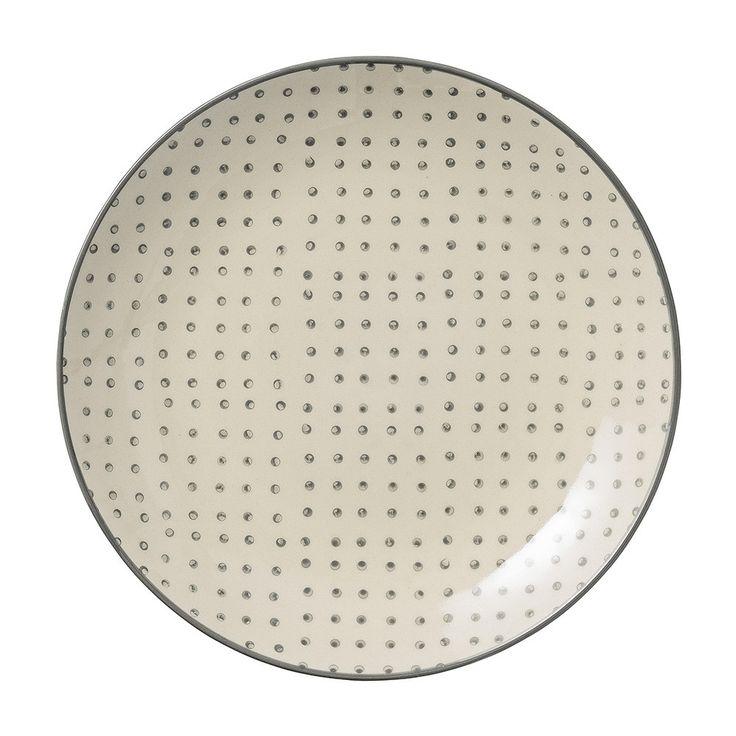 Discover+the+Bloomingville+Carla+-+Grey+Dot+Plate+at+Amara