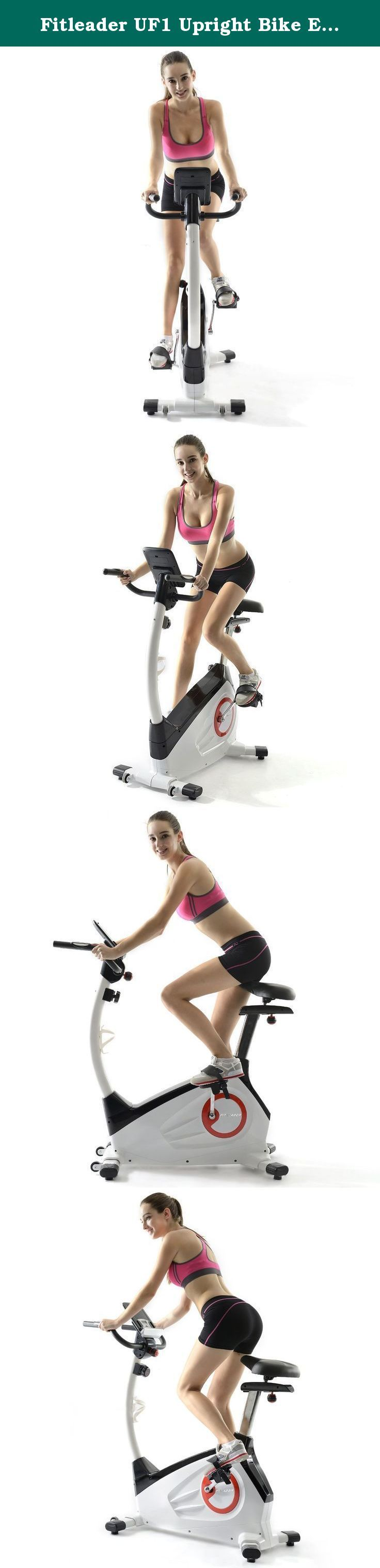 """Fitleader UF1 Upright Bike Exercise Indoor Cardio Bike Magnetic Resistance Stationary Cycling. """"Why Choose a Fitleader Upright Bike? Are you still trying to find the best stationary bike for your home gym? If so, the Fitleader UF1 upright bike is the high quality, competitively priced exercise bike you've been looking for! With its eight resistance levels and progress readouts for speed, RPM, time, distance, watts, calories and pulse, the UF1 is exactly what you need to achieve your…"""