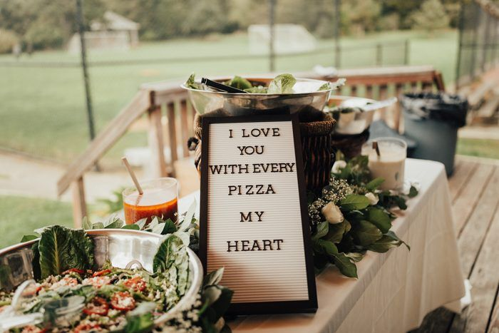 9 Unconventional Rehearsal Dinner Ideas Junebug Weddings Rehearsal Dinner Decorations Wedding Reception Food Night Wedding Reception
