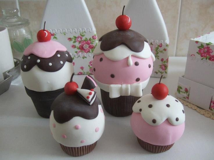 Cold Porcelain. Cupcakes