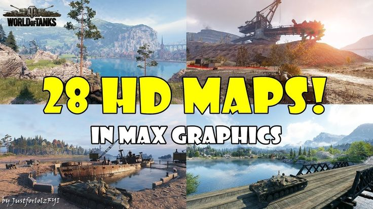 ALL 28 HD MAPS in MAX GRAPHICS! [World of Tanks - 1.0 Supertest Footage]