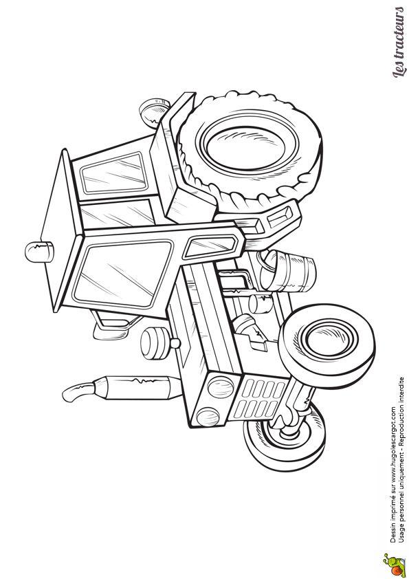 24 best coloriages de tracteurs et monster truck images on pinterest monster trucks tractors - Dessin a colorier de tracteur ...