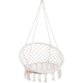 Hengestolen har en stamme av bambus og trådene er 65% bomull og 35 % polyester. Finnes i flere farger. Størrelse 60 x 106 cm. Maxvekt 100kg.