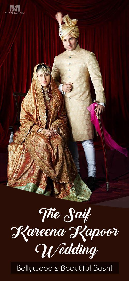 The Saif - Kareena Kapoor Wedding: Bollywood's Beautiful Bash! see more :http://www.thebridalbox.com/articles/kareena-kapoor-wedding_0039930/