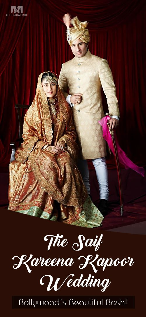 The Saif - Kareena Kapoor Wedding: Bollywood's Beautiful Bash! see more :http://www.thebridalbox.com/articles/kareena-kapoor-wedding_0039930/