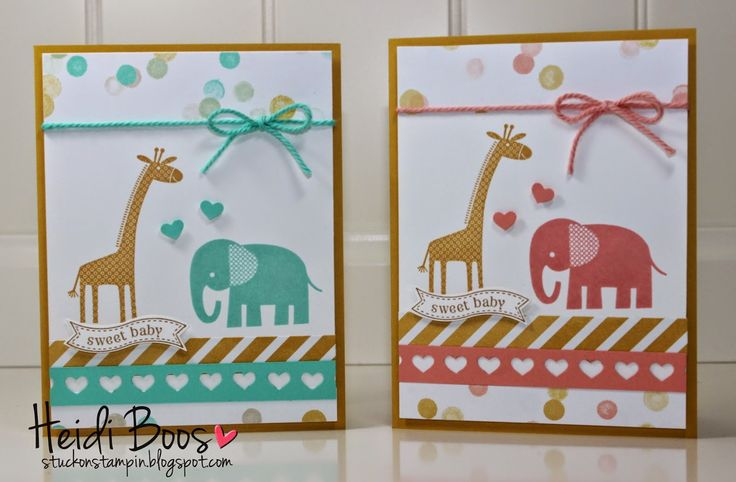 Zoo Babies -- Stuck on Stampin': Creation Station Blog Hop - Baby Baby!