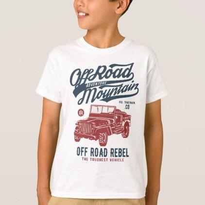 Off Road Jeep Kids' TAGLESS® T-Shirt - kids kid child gift idea diy personalize design