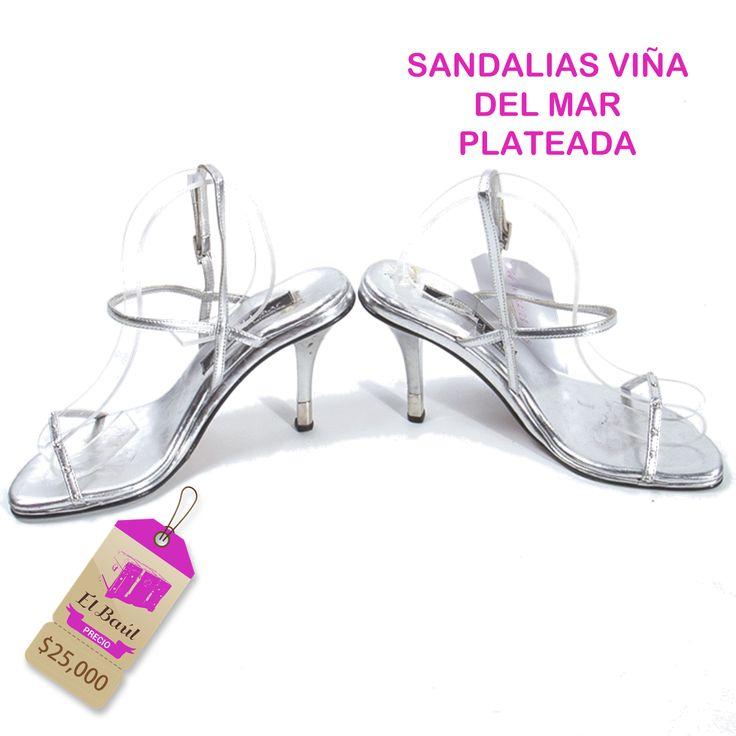Sandalias Viña del Mar plateadas, Juega con los tacones para favorecer tu silueta   $25,000  http://elbaul.co/Productos/1552/Sandalias-Vi%C3%B1a-del-Mar-plateada-