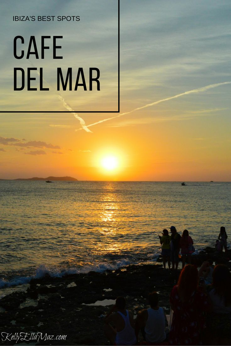 You can't visit Ibiza without going to Cafe del Mar! This beachfront restaurant has the best sunset view on the island. Click the image to read our destination guide for Ibiza to learn about more must-visit spots!