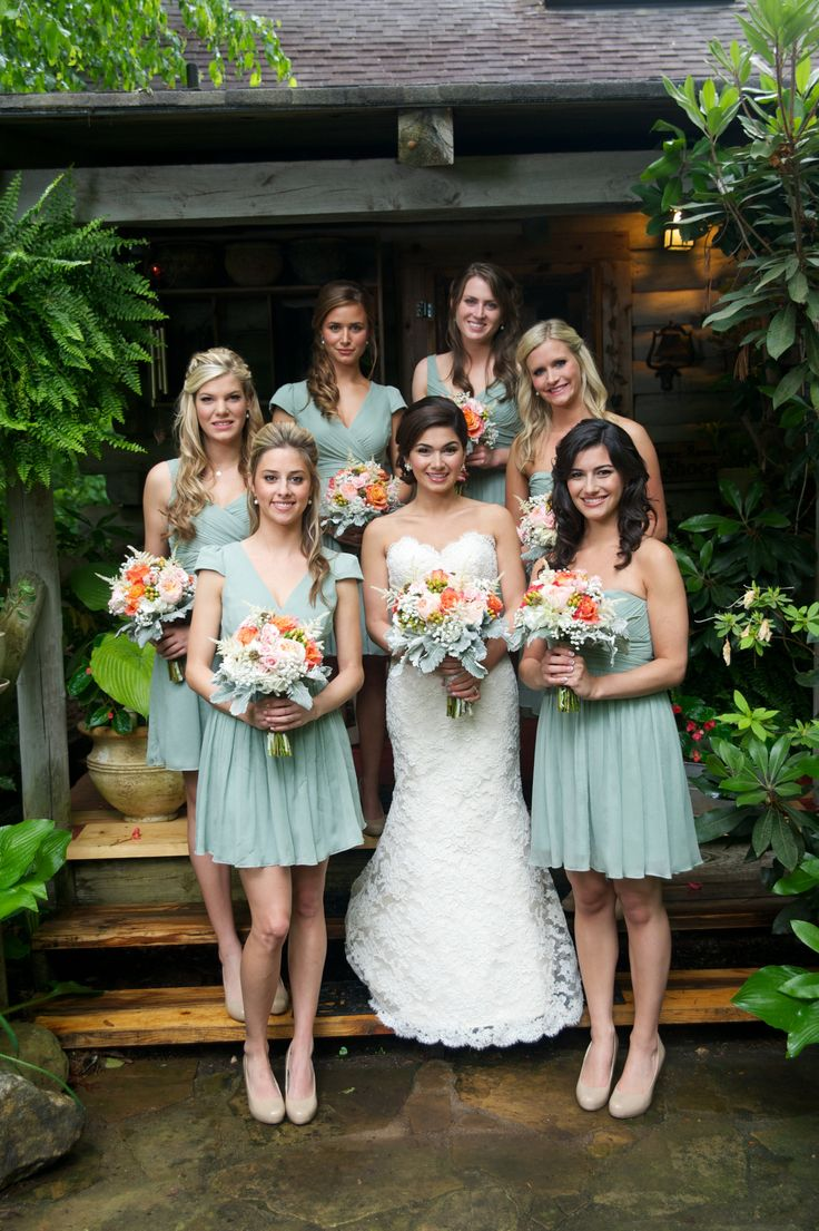 Dusty Shale Bridesmaid Dresses