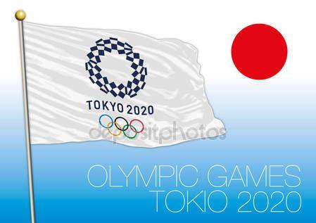 Tokio, Giappone - agosto 2020, preparazione per i giochi olimpici 2020, logo, bandiera e simbolo — Vettoriali  Stock © frizio #135389200