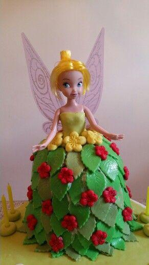 Tinker bell chocolate strawberry cake