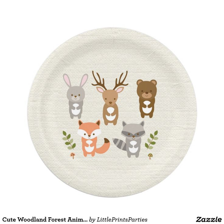 I looked all over for paper plates.  having so much trouble finding what we want. (was looking for solid colors in muted tones - not bright).  These would work, but don't have the kind of animals we are using.  They need to be ordered asap though to get here in time. Cute Woodland Forest Animal Paper Plates 7 Inch Paper Plate