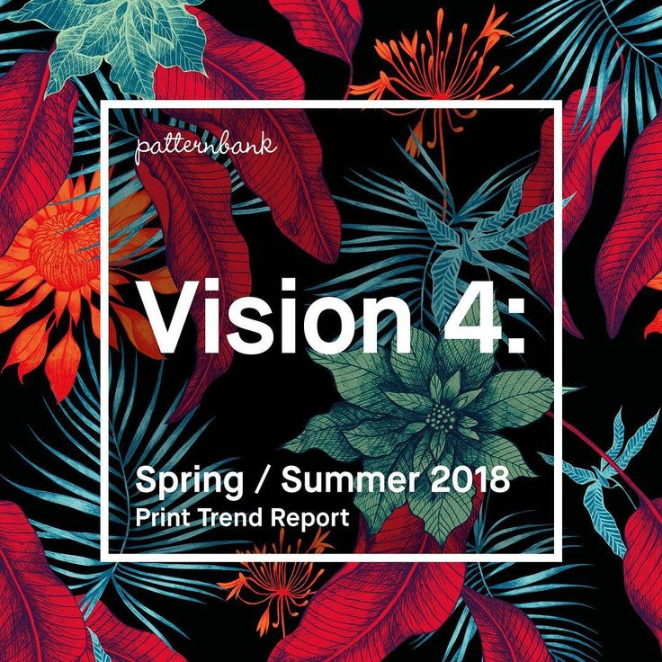 Vision 4: Spring/Summer 2018 Print Trend Report – We've just released Vision 4: our fourth bitesize print and pattern trend report for Spring / Summer 2018. We understand the fast moving design industry and aim to innovate and inspire you and your team so you are ahead of the curve for next season. Vision 4: SS18 Print Trend Themes – Sport Lines / Mystical Tribes / Exotic Island #fashiontrends #trends #fashionweek #print #pattern #ss18 #springsummer2018