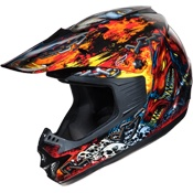 On fire!  Fulmer Helmets, Inc - Helmets - Off Road   www.allsporthelmets.com  - sport helmets for men women and children