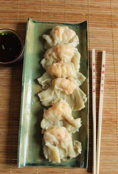 raviolis crevettes vapeur
