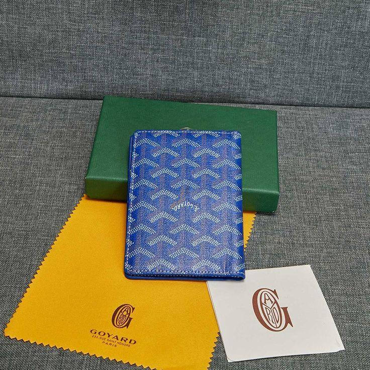 Goyard goyardine passport holder blue in 2020 goyard