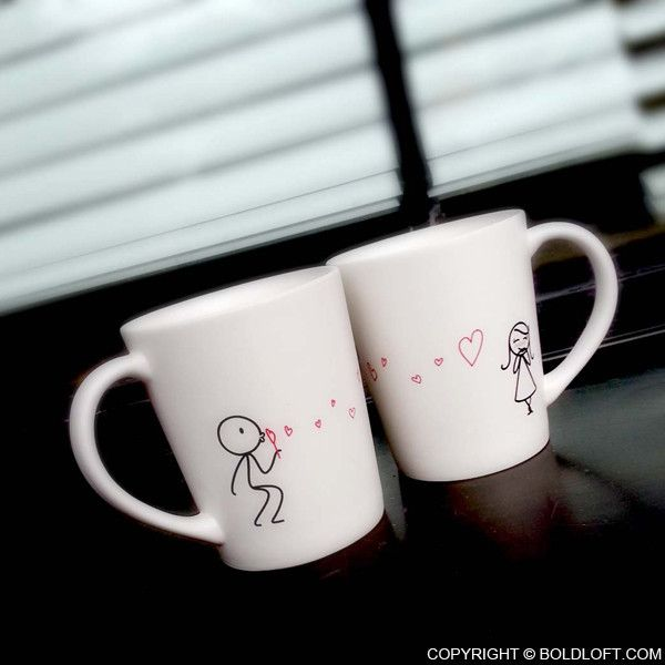 """From my heart to yours, I want you to know that my love follows you wherever you go."" With these ""his and hers"" coffee mugs, you can remember each other with every sip! Cute Christmas gifts for girlfriend or wife. BoldLoft ""From My Heart to Yours"" His and Hers Couple Coffee Mugs. #hisandhers #christmasgiftsforher"