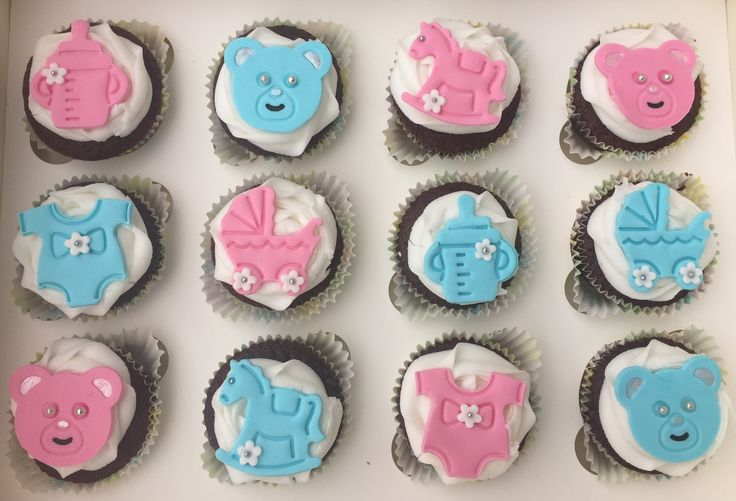 Baby shower cupcakes! Mixed Gender!!  Check out my page https://www.facebook.com/frosted.cupcakes.invercargill/