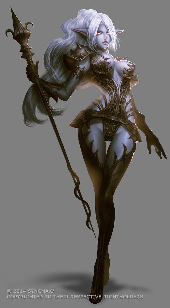 Dark Elf character design by syncmax.deviantart.com on @deviantART