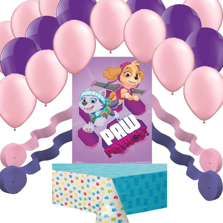 Paw Patrol Girl Pups Skye Everest Poster Balloon