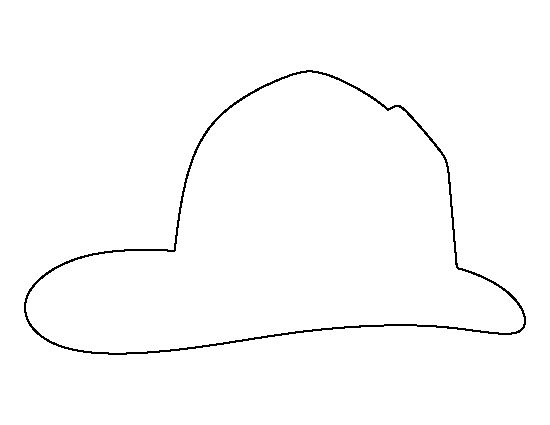 Fireman hat pattern. Use the printable outline for crafts, creating stencils, scrapbooking, and more. Free PDF template to download and print at http://patternuniverse.com/download/fireman-hat-pattern/