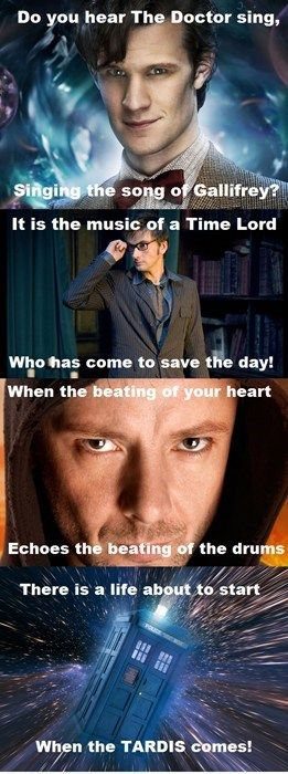 "Les Doctorables - They should have said ""hearts"" instead of ""heart"" ;)  Doctor Who / Les Miserables"