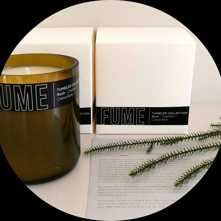 Tumbler Collection 200grams of natural soy candle with scent