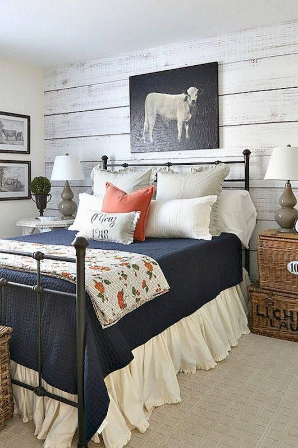 Awesome Country Style Bedroom Transformation Designs You Might Choose For Your Cottage Farmhous Remodel Bedroom Farmhouse Bedroom Decor Country Style Bedroom