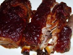 Cranberry Barbecue Pork Ribs _ yummy! Making these for dinner tomorrow night!