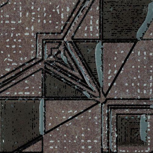 Lensitile Grafit narożnik Dekoracje podłogowe - 7,2x7,2 - Lensitile